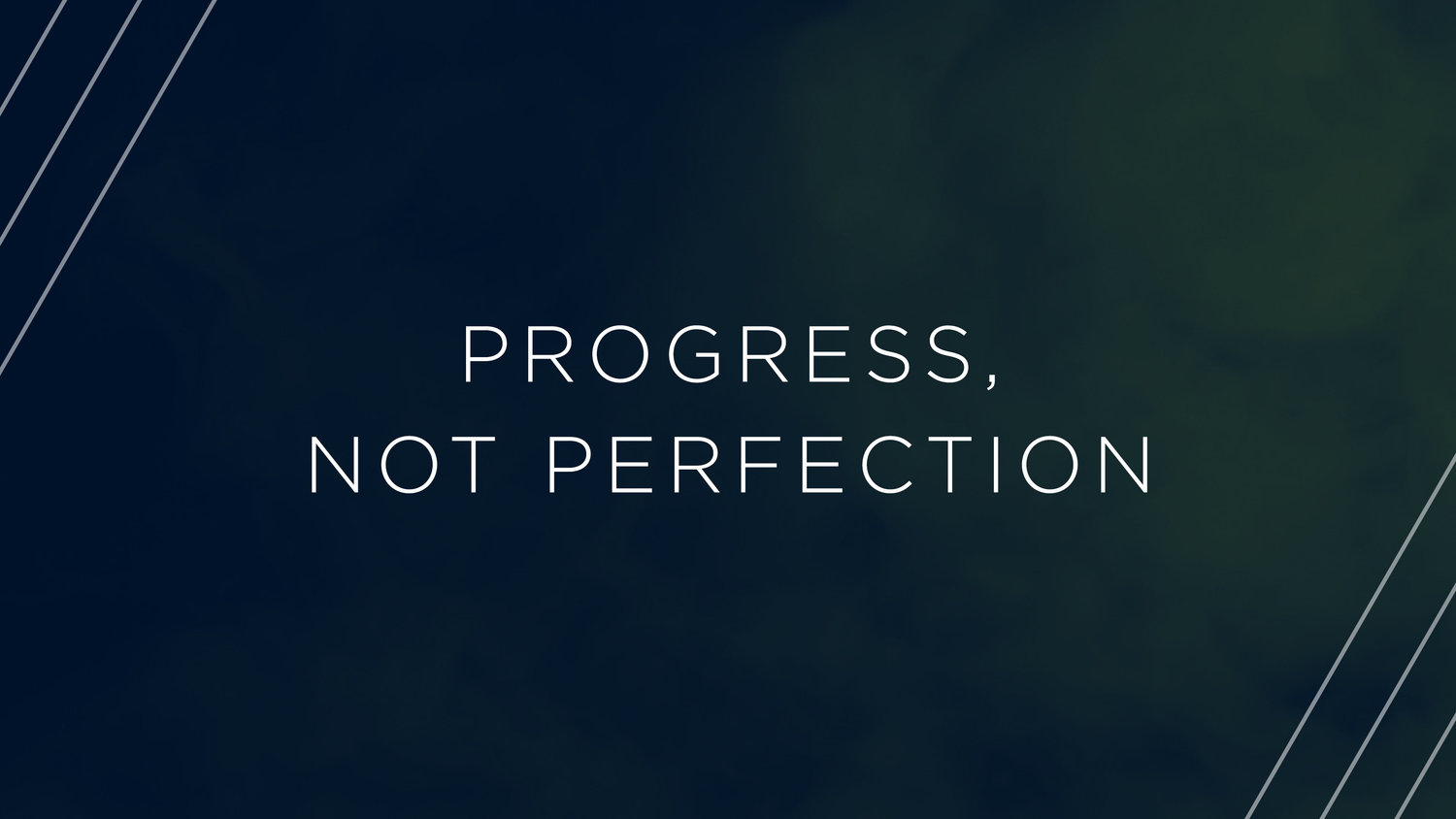Focus on Your Progress not Perfection ~ blog – 180 Ministries